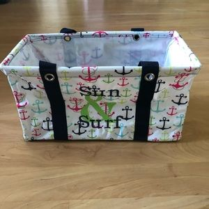 Thirty-One Medium Utility Tote Anchors Away
